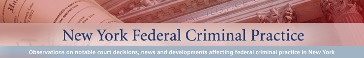 New York Federal Criminal Practice Blog